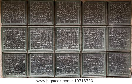 Pattern of glass block wall background and texture for graphic design.