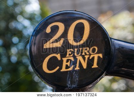 20 euro cent sign background for graphic design.