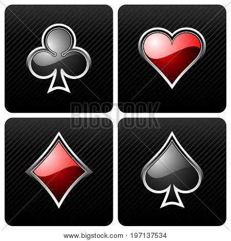 gambling illustration with casino elements on dark backround