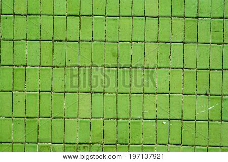 Green Rectangular Tiles background and texture for graphic design.