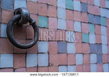 wall with hook screw background and texture for graphic design.