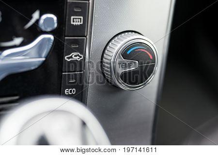 Modern Car Air Condition Control Knob