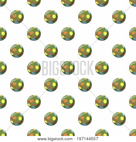 Colorful ball pattern seamless repeat in cartoon style vector illustration