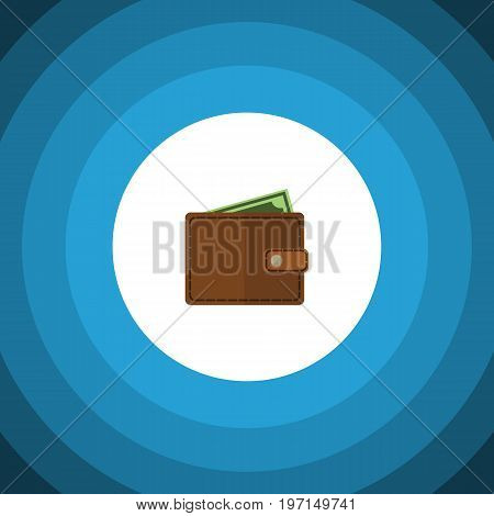 Billfold Vector Element Can Be Used For Pocketbook, Wallet, Billfold Design Concept.  Isolated Wallet Flat Icon.