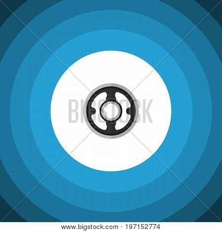 Belt Vector Element Can Be Used For Pulley, Gear, Belt Design Concept.  Isolated Pulley Flat Icon.