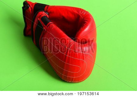 Boxing Gloves In Red Color. Knock Out And Strong Punch