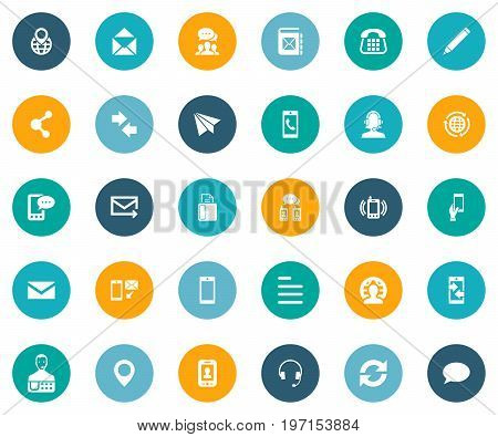 Elements International Job, Quick Post Delivery, Posting And Other Synonyms Connection, Technology And Speech.  Vector Illustration Set Of Simple Connect Icons.