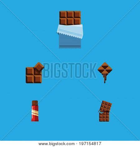 Flat Icon Bitter Set Of Cocoa, Bitter, Delicious And Other Vector Objects