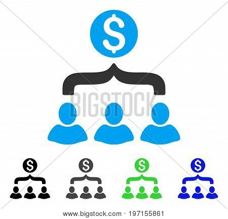 Sales Funnel flat vector icon. Colored sales funnel gray, black, blue, green pictogram variants. Flat icon style for graphic design.