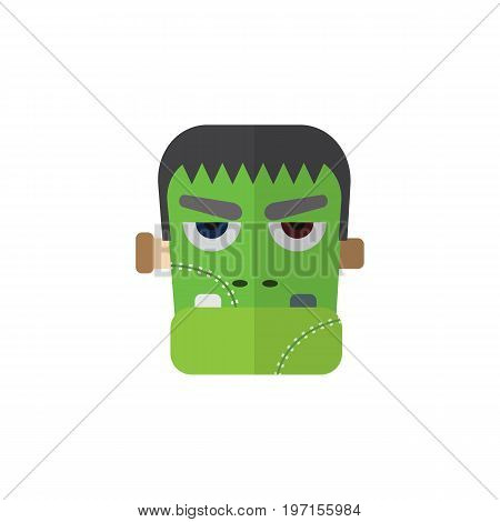 Monster Vector Element Can Be Used For Zombie, Monster, Vampire Design Concept.  Isolated Zombie Flat Icon.