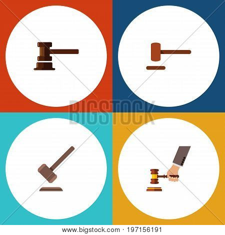 Flat Icon Lawyer Set Of Tribunal, Government Building, Defense And Other Vector Objects