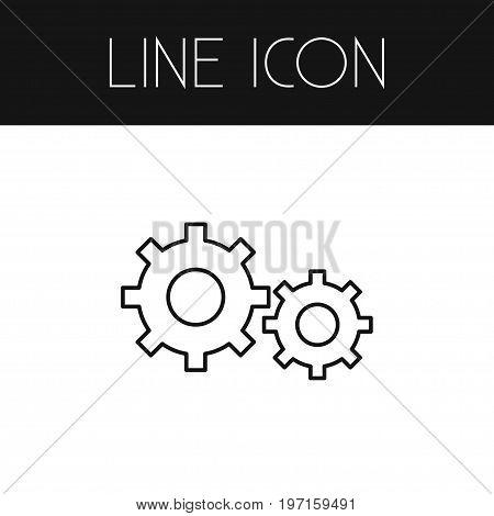 Development Vector Element Can Be Used For Gear, Cogwheel, Development Design Concept.  Isolated Cogwheel Outline.