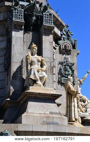 Travel ib Spain. Catalunia, Barcelona, Columb monument