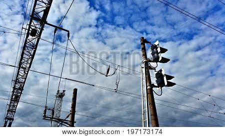 Line Of High Voltage Wires