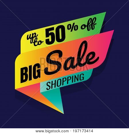 Super Sale this weekend special offer banner up to 50% off. Vector illustration.. price tag. SALE colorful. percent. discount. Super sale banner. Sale poster vector. sale sign discount. on blue background