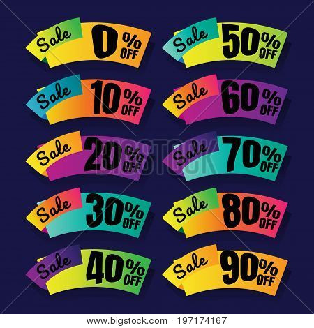 sale. Discount price tags. this weekend special offer banner up to 100% off. Vector illustration.. price tag. SALE colorful. percent. discount. Super sale banner. Sale poster vector. sale sign discount. on blue background