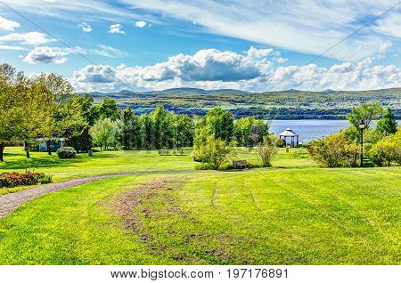 Landscape View Of Sainte-famille Park In Summer In Ile D'orleans, Quebec Canada