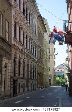 the Váci utca in Budapest - hungry