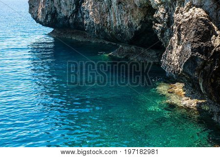 Sea View From A Cave