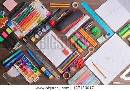 Back To School Concept Lot Of Tools