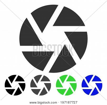Shutter flat vector icon. Colored shutter gray, black, blue, green icon variants. Flat icon style for application design.