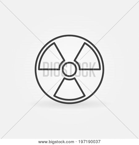 Radiation outline icon - vector nuclear power sign or design element