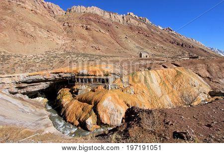 Puente del Inca, incas bridge natural monument, Mendoza, Argentina, South America