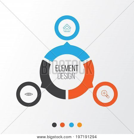 Internet Icons Set. Collection Of Estate, Glance, Increase Loup And Other Elements