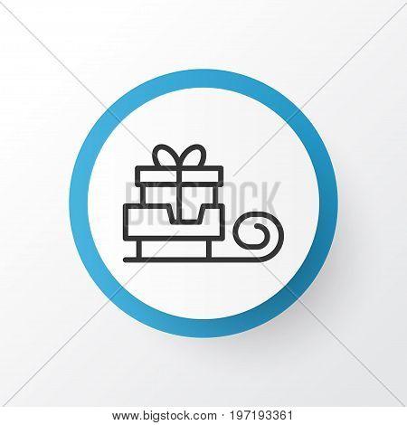 Premium Quality Isolated Toboggan Element In Trendy Style.  Sledge Icon Symbol.