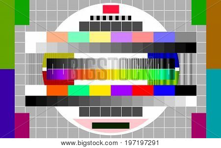 Technical issues on television, vector art illustration of technical prevention on TV.