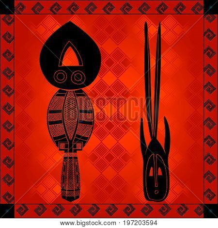 African Cultural Ornaments 229.eps