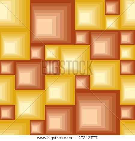 Seamless square pattern with hot color tiles