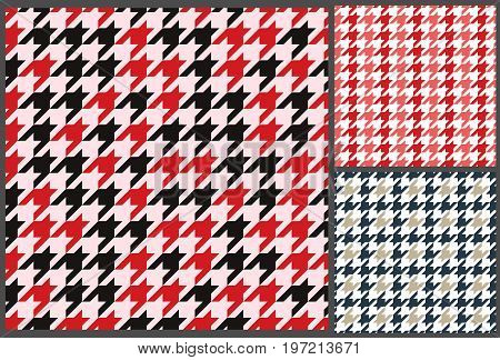 houndstooth seamless pattern textile retro design for clothes