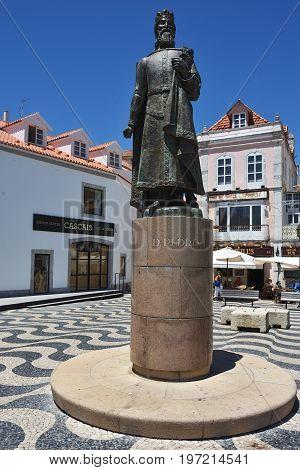 Statue Of Dom Pedro I In Cascais, Portugal
