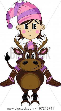 New Elf On Reindeer