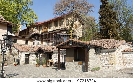 SAINTS CONSTANTINE AND HELENA, BULGARIA - April 27, 2015 : Saints Constantine and Helena monastery in Saints Constantine and Helena resort, founded in 16 century.