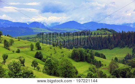 mountain landscape in Ukrainian Carpathians