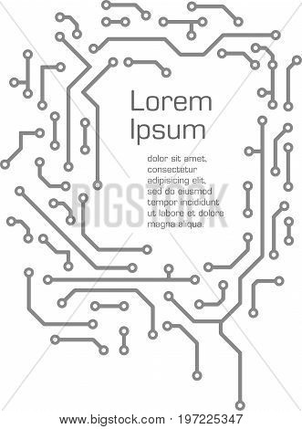 Abstract high tech background in PCB-layout style