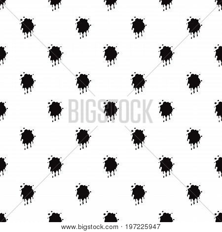 Oil spill splash isolated on white background. Black oil blot vector illustration