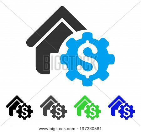 House Rent Options flat vector icon. Colored house rent options gray, black, blue, green icon variants. Flat icon style for application design.