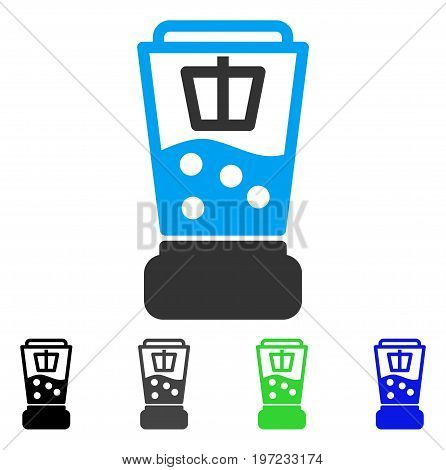 Kitchen Mixer flat vector pictograph. Colored kitchen mixer gray, black, blue, green pictogram versions. Flat icon style for application design.
