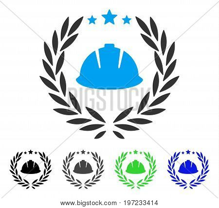 Developer Laureal Wreath flat vector pictograph. Colored developer laureal wreath gray, black, blue, green icon versions. Flat icon style for web design.