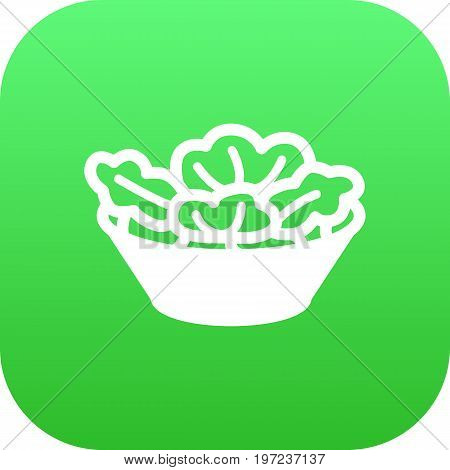 Vector Lettuce Element In Trendy Style.  Isolated Salad Icon Symbol On Clean Background.