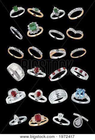 Luxury Jewels On Black