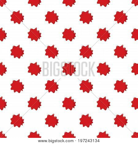Red blood pattern seamless repeat in cartoon style vector illustration