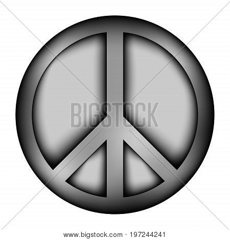 Peace symbol icon sign on white background. Vector illustration.