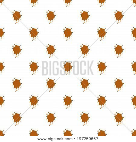 Caramel stain pattern seamless repeat in cartoon style vector illustration