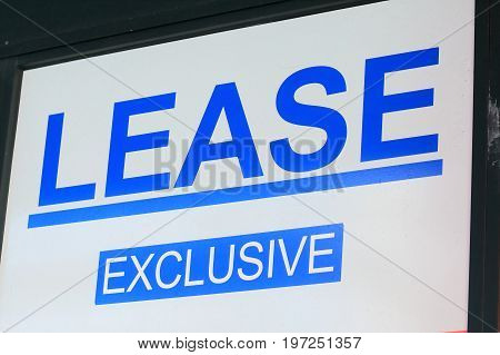 Real Estate for lease sign in Australia