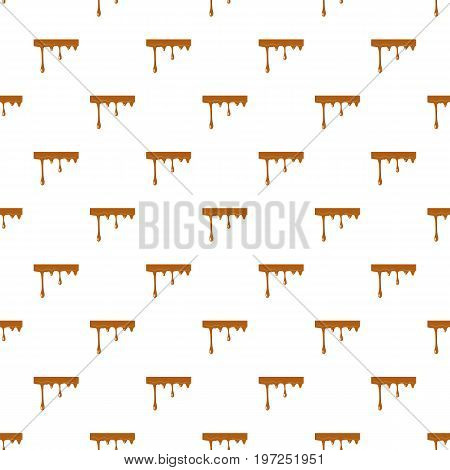Flowing drop of caramel pattern seamless repeat in cartoon style vector illustration