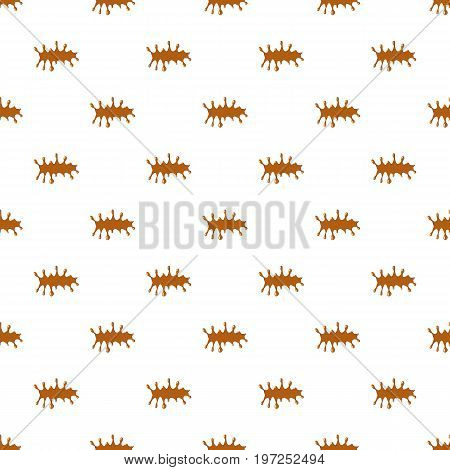 Puddle of caramel pattern seamless repeat in cartoon style vector illustration